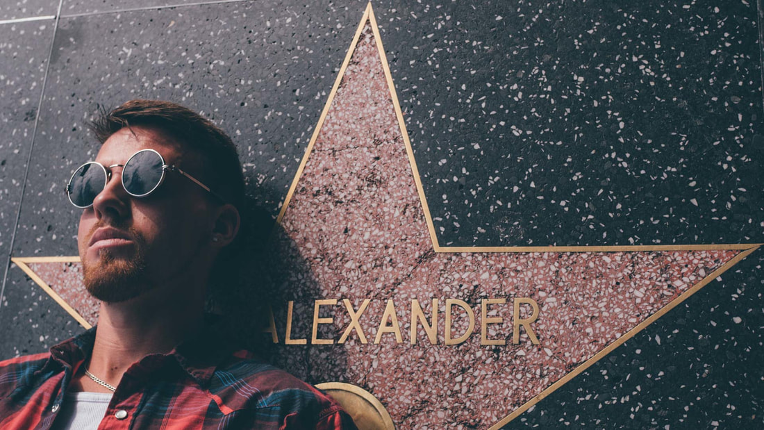alexander jay lays on Hollywood Walk of Fame